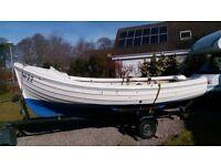 FISHING BOAT ARRAN/ORKNEY, 16' F/G,INBOARD DIESEL, TRAILER