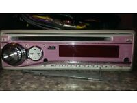 JVC Pink In-Car CD Player - Face Off - MP3/AUX IN
