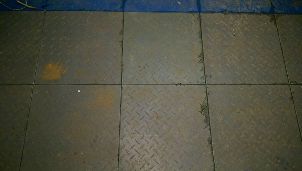 Garage Work Shop Flooring Checker Plate Tiles Floor Paint In Poole