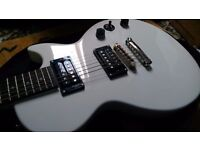 Epiphone Electric Guitar, White Les Paul body
