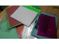 £2 the lot- file dividers,plastic sleeves,plastic files-£2 the lot.