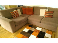 DFS Right Hand Corner Sofa, Tv Unit with Matching Cabinets, Dining Table with 4 Chairs & More