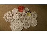 Selection of 13 doilies - wedding party