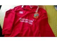 British and Irish lions long sleeve rugby shirt. XXL BNWT