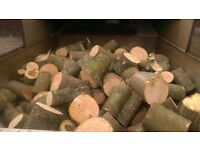 Logs. Cut unseasoned hardwood. Chester. Northwich. Winsford. Neston.