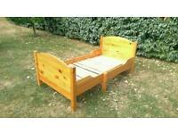 Can deliver: solid wooden pine toddler bed that is extendable.