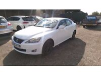 Lexus IS 220D 2.2 TD SE 4dr Rare White, Full Service, MOT