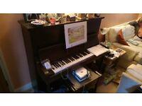 Upright Piano Supertone supplied by Herberte Jordan of Wellingborough