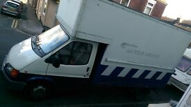 ford transit lwb box van luton no tail lift