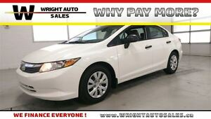 2012 Honda Civic DX| POWER WINDOWS| ACCIDENT FREE| 78,718KMS