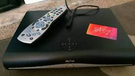 Sky plus HD box, power lead and remote
