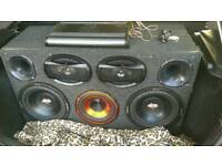 Subwoofer, 6x9, bugles, amplifier
