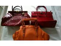 Handbags x 3, bundle