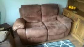2 / 3 / 4 Seater Reclining Brown Sofa