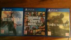 Dark souls 3 , GTA5 , Battlefield 1