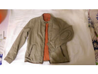 Massimo Dutti jacket XL reversible Orange-beige
