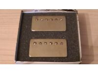 Bare Knuckle Stormy Monday Humbuckers Alnico 2 II Aged Nickel Unpotted Braided Unused Long Leg 50mm