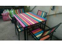 Hardwood & iron patio set