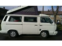 Vw T 25 Westfalia white left hand drive vgc