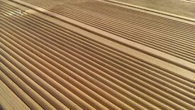 High Quality Swedish Ribbed Decking And Base Timbers To Cover 3.6m x 3m