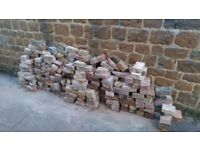 Old reclaimed bricks. 1/2s and 3/4s and some full.