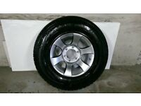 ALLOYS X 4 OF 15 INCH FORD RANGER/4X4/FULLY POWDERCOATED IN A STUNNING SHADOW/CHROME WITH NEW TYRES