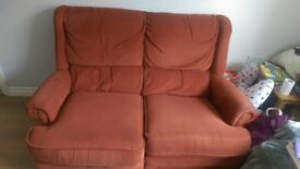 2 red sofas used but still comfy