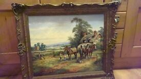 Horse and cottage painting/picture