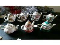 Miniature teapot collection