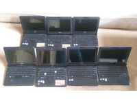 "10x Toshiba Netbook Laptops & Chargers 10.1"" (250GB, Atom 1.6GHz, 2GB)"