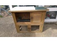 Guinea pig/rabbit hutch two tier
