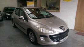 2008 PEUGEOT 308 1.4 5DOOR MANUAL, VERY LOW MILES ONLY 38K, FULL SERVICE DRIVES LIKE NEW.