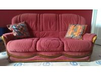 Two sofas in good condition, FREE to collect