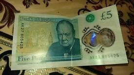 5 pound note ak27