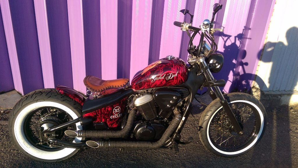 stacked deck honda shadow 600 bobber vt vlx chopper free. Black Bedroom Furniture Sets. Home Design Ideas