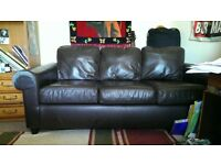Leather Sofa - Very Good condition £30
