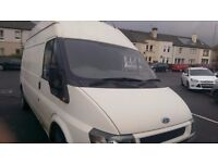 TRANSIT LWB VAN. STARTS AND DRIVES WELL. LONG WHEEL BASE, HIGH TOP. GENUINE MILEAGE.