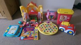 VARIOUS PEPPA PIG TOYS AND ELECTRONIC LEARNING TOYS FOR SALE