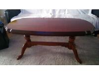 wonderful mahogany coffee table