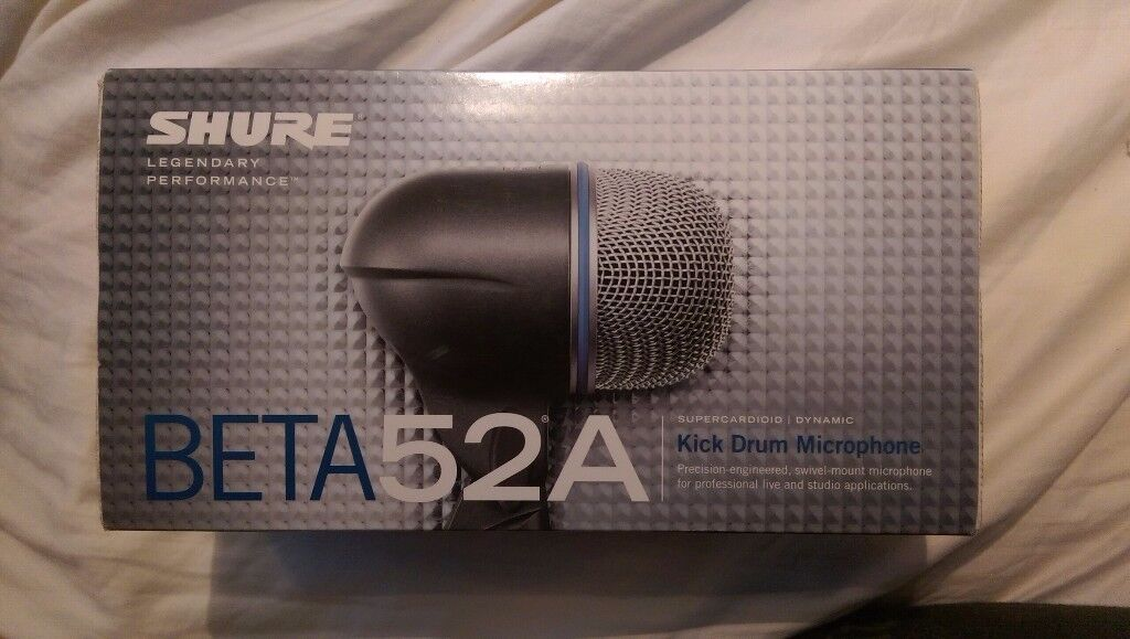 New - Shure Beta 52A Kick Drum/Bass Guitar Microphone
