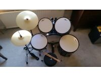 Drum Kit – Full Size – Ideal for Beginners – Nearly NEW