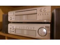Denon DCD-F101 CD Player DRA-F101 Stereo Receiver/Amplifier with Audio Pro Speakers
