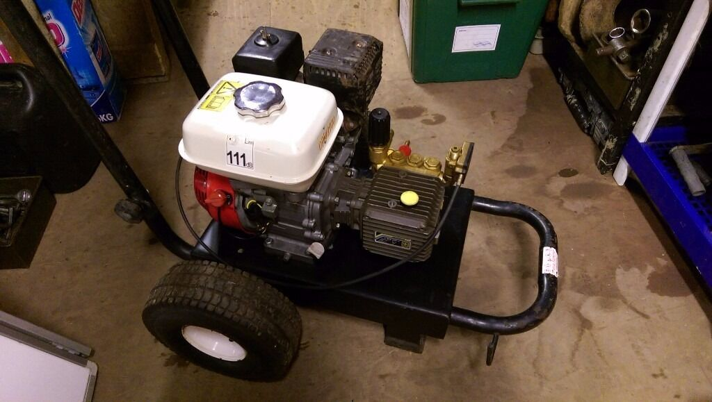 Honda GX120 4.0 Interpump petrol power pressure washer serviced new & Oring kit want HOT STEAM CLEAN