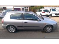 2003(03) NISSAN ALMERA 1.8SVE - Only 64,000 Miles- MOT March 2017 - Spares or Repairs