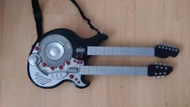 Kids grey guitar with batteries