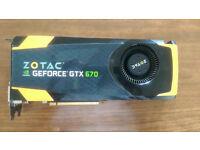 Zotac NVIDIA GeForce GTX 670 2 GB graphics card