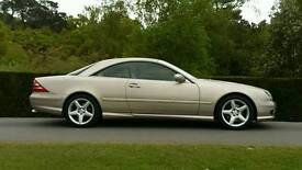 MERCEDES CL 500 RARE GOLD WITH AMG FACTORY BODYKIT