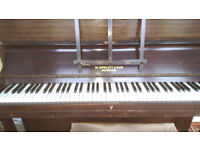 Piano for sale. W Howlett and Son Norwich. All keys working, needs a tune can be heard via ytube.