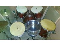 Full size Drum kit with extras