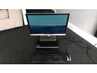 "HP Compaq i5 WIN7 64bit Desktop PC & 24"" BENQ LED Monitor DVI HDMI"